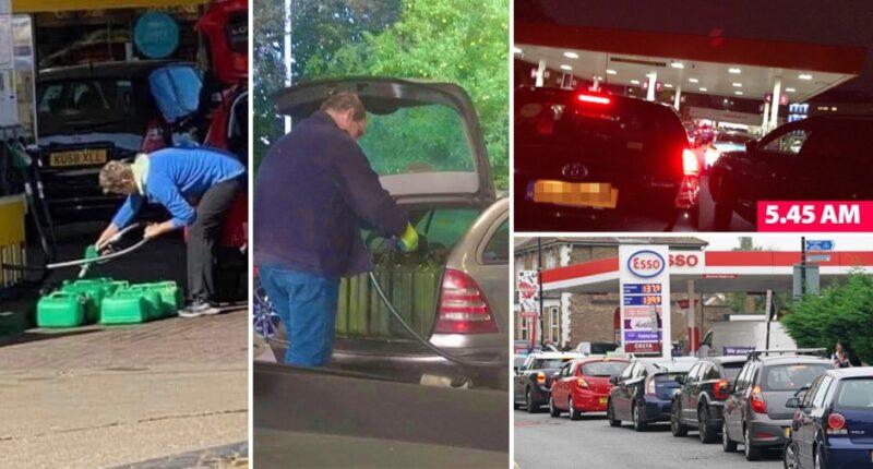 pánik üzemanyag vásárlás benzinkút