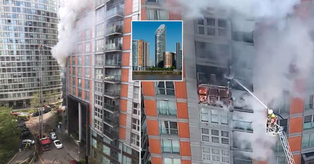 Újabb hatalmas tűz, megint kigyulladt egy lakótömb Londonban 1
