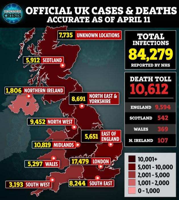 koronavírus Nagy-Britannia