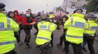 A teherautó sofőrök összecsaptak a rendőrséggel Doverben 2