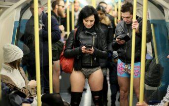 nadrág nélkül metrózás