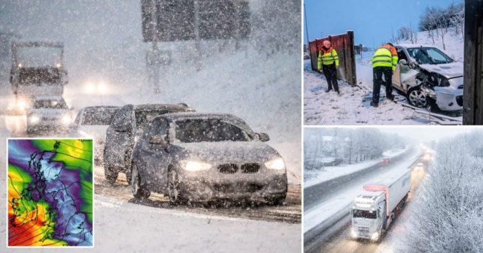 Az első komolyabb hóesés idén Nagy-Britanniában: több helyen 10-20 cm hó esett le hétfő reggelre 1