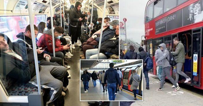 A koronavírus ellenére újra tömeg a buszokon és metrókon Londonban 1