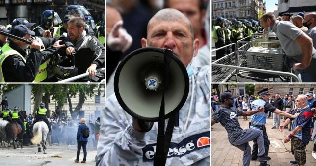 Újabb komoly összecsapás a rendőrök és a tüntetők közt London belvárosában 1
