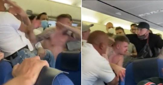 Komoly verekedés tört ki egy repülőjáraton, miután 2 brit férfi nem volt hajlandó felvenni a maszkot 1