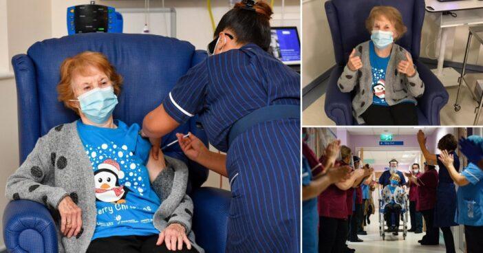 Elkezdődött: egy angliai 90 éves nő az első a világon, aki megkapta a Pfizer vakcinát 1