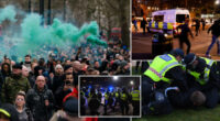 Eldurvult a lockdown ellenes tüntetés Londonban: összecsaptak a rendőrök a tüntetőkkel 2