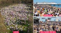 """""""Ne most rontsuk már el a legvégén"""" – kérte a brit egészségügyi miniszter, de a parkok és tengerpartok már tömve a szép időben 2"""