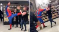 Pókembernek öltözve verte össze a szupermarket alkalmazottait egy férfi Londonban 2