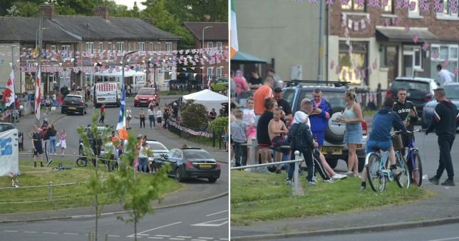 Reggelig buliztak az emberek kint az utcán Angliában, miközben a rendőrök egyre tehetetlenebbek 1