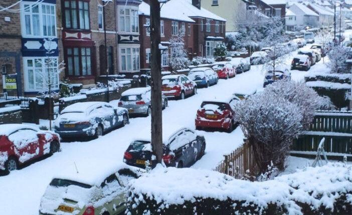 Újabb hatalmas havazás Nagy-Britanniában, borstyán színű figyelmeztetés az ország északi felén 1
