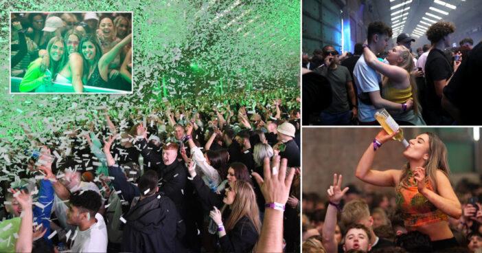 Először tért vissza a bulizni vágyó tömeg a tánctérre Angliában: a fergeteges buli képekkel 1