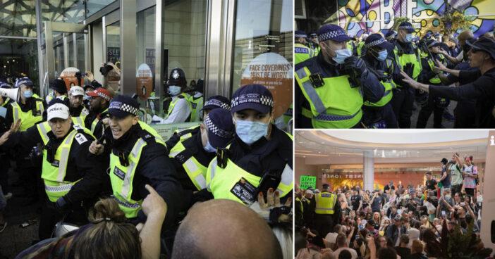 Megrohamozták a tüntetők a Westfield bevásárlóközpontot Londonban, és a rendőrökkel is összecsaptak 1
