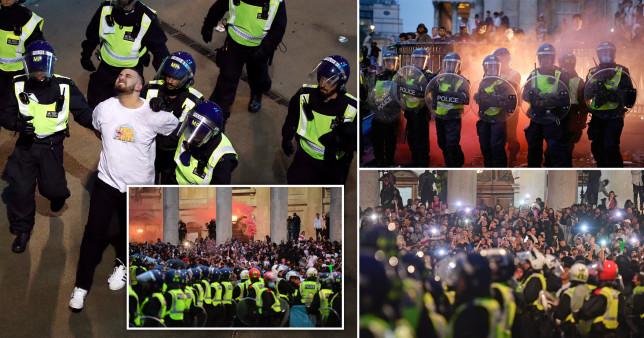 Hatalmas balhé az EB döntő előtt és után Londonban: 49 letartóztatott és 19 rendőr sérült meg 1