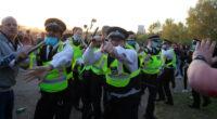 Eldurvult a lockdown ellenes tüntetés Londonban, nyolc rendőr sérült meg 2