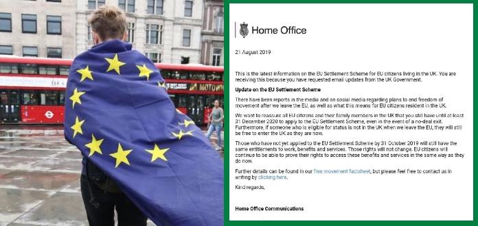 A brit belügyminisztérium hivatalos közleményben reagált ma az EU polgárok sorsát illetően 2