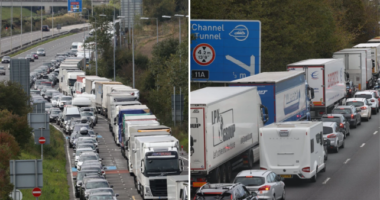Hatalmas káosz a Csalagútnál Angliában: Rengetegen a kocsijukban éjszakáztak 1