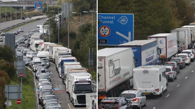 Hatalmas káosz a Csalagútnál Angliában: Rengetegen a kocsijukban éjszakáztak 8