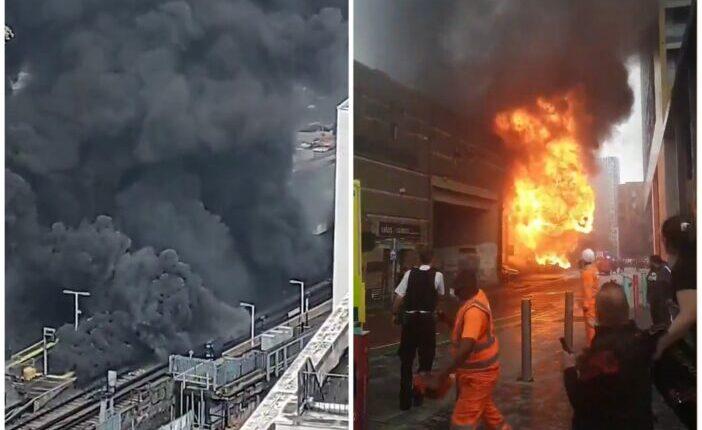 Hatalmas tűz ütött ki Londonban Elephant and Castle Station mellett 1