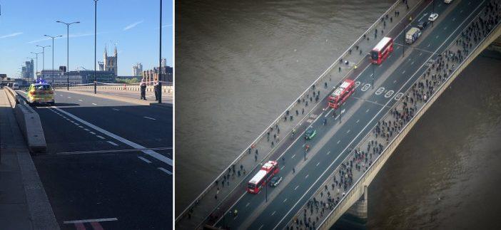 Lezárták a London Bridge-et, miután egy férfi a híd közepén hagyta furgonját majd a vízbe ugrott 2