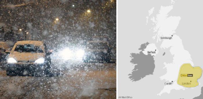 Újabb nagy havazás várható a napokban Londonban és környékén, helyenként 5-10 cm is eshet 1