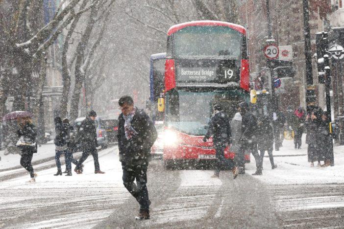 Szakad a hó Londonban és Anglia több más pontján is 1