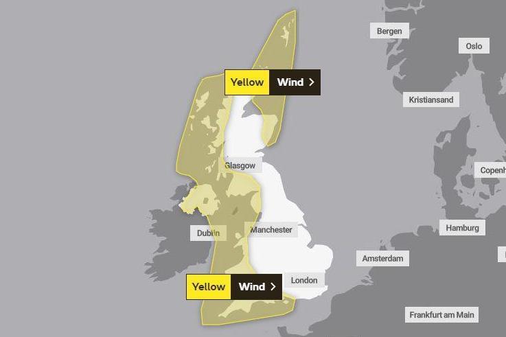 A Brendan vihar ma éri el Nagy-Britanniát: helyenként 120 km/h-ás szél, és hó is várható 1