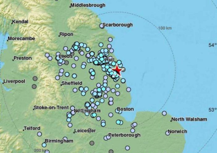 földrengés Anglia