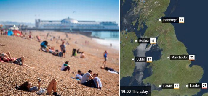 Rekord meleg lesz ma Londonban és Anglia számos pontján 1