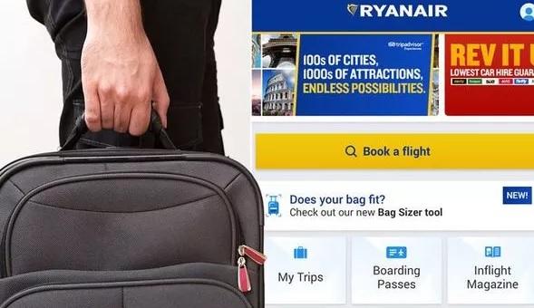 Új mobil app a Ryanairnél, ami a kamerád segítségével megmondja, hogy kell-e fizetned a kézipoggyász után 1