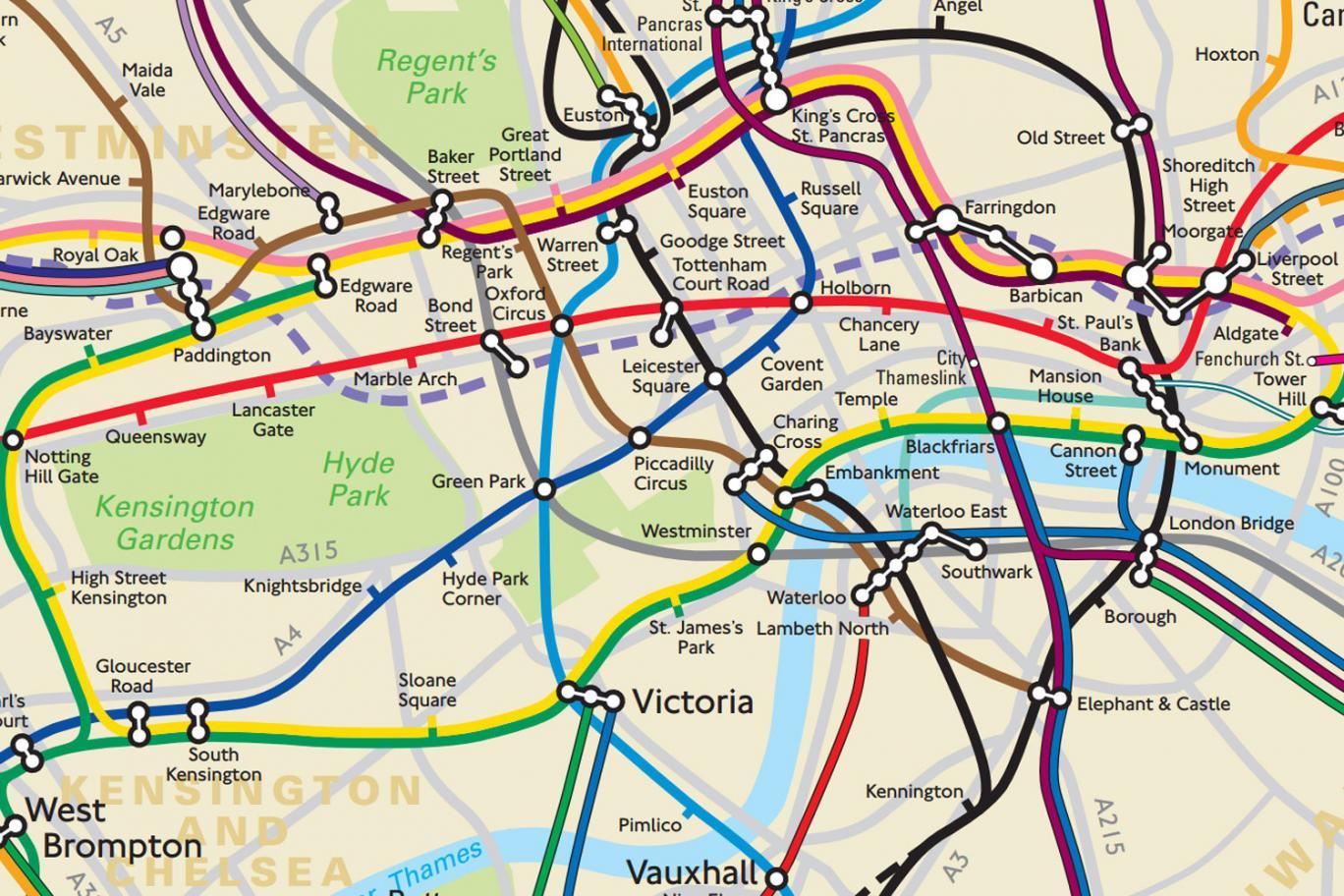 Elkeszult Az Uj Londoni Metroterkep Ami Vegre A Valos