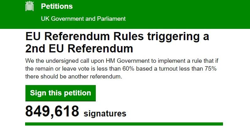 Új népszavazást követel fél Nagy-Britannia: 800,000-en írták alá a petíciót 24 óra alatt 5