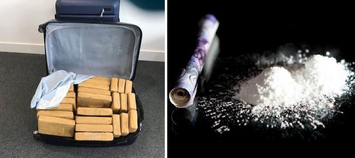 £50,000,000 értékű drogszállítmányt kaptak el az angliai reptéren, bőröndökbe rejtve 1