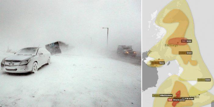 Legmagasabb fokozatú vörös riasztás Nagy-Britannia több pontján: hóviharok és dermesztő hideg országszerte 2